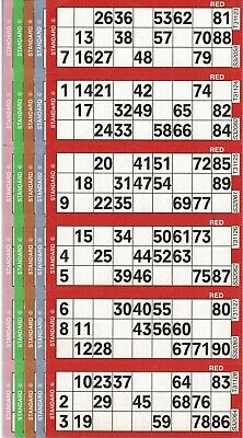 6 Packs of 250 Sheets Bingo 3 ON Strips