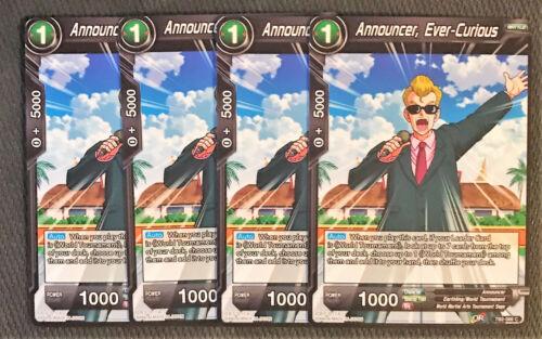 Ever-Curious TB2-066 C Dragon Ball Super TCG NEAR MINT 4x Announcer