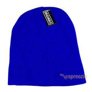 Royal Blue Skull Cap Plain Beanie Knitted Ski Hat Skully Warm Winter Solid Head