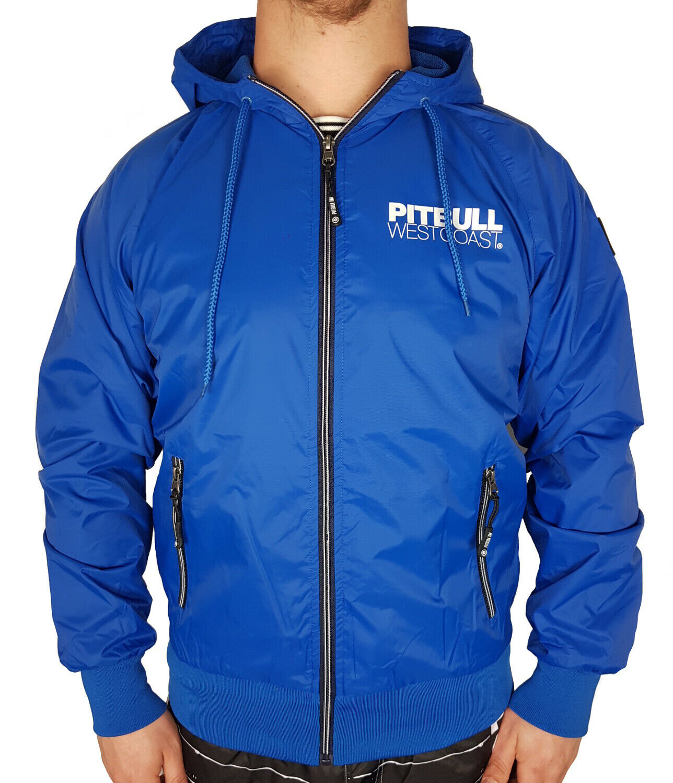 Pit Bull Westcoast Herren Windjacke Zipper Jacke Windbreaker blau Athletic IX