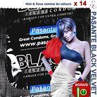 ❤ PASANTE BLACK VELVET ❤ Lot de 14 préservatifs Noirs & Si Doux + 1 capote GLOW