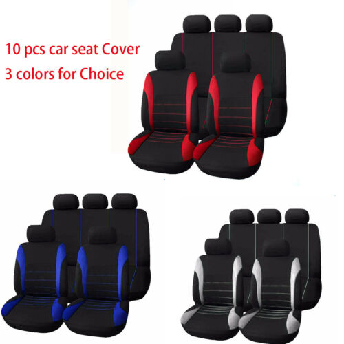 Universal  Car Seat Covers Full Set  Front Rear Seat Cushions Full Season cover