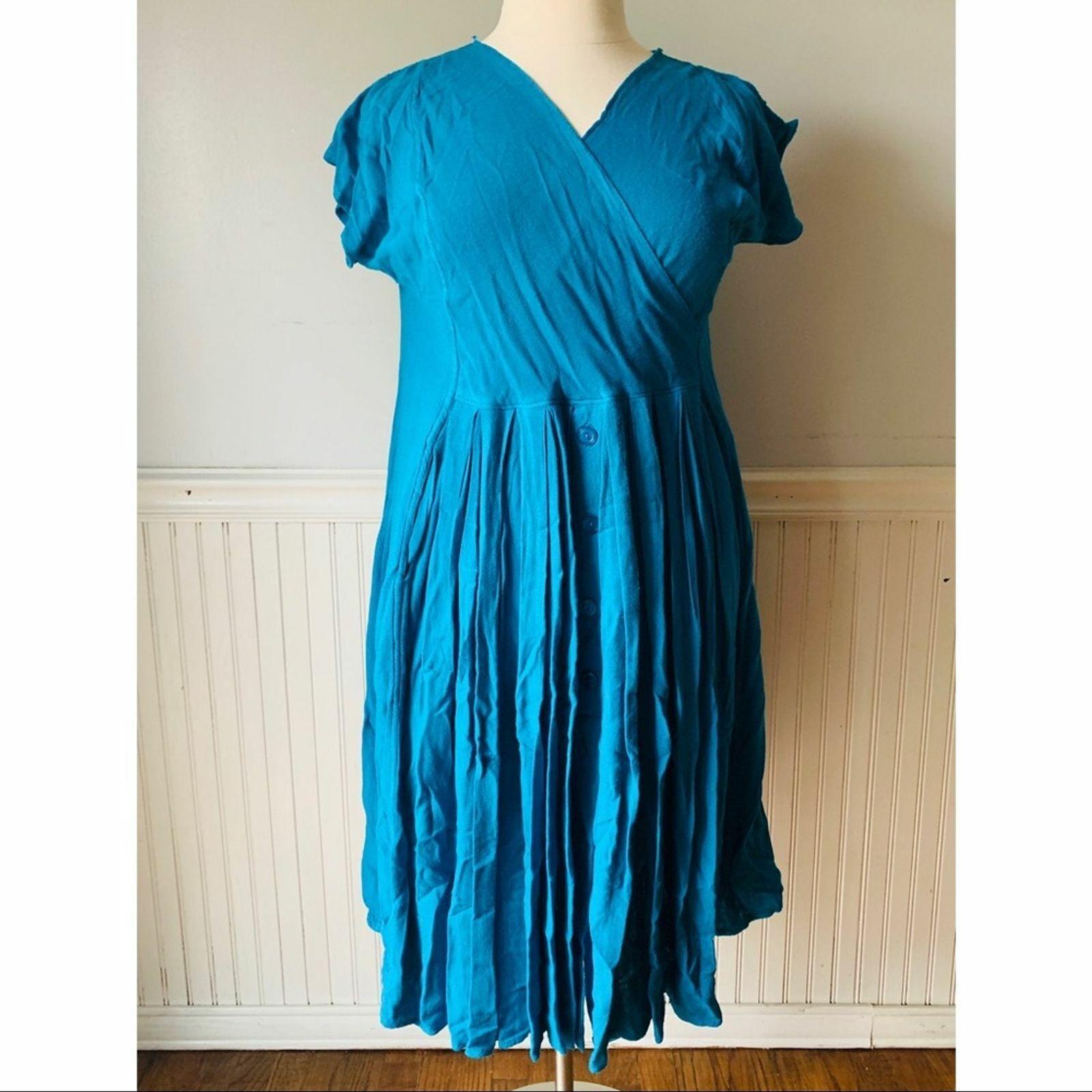 Vintage LAISE ADZER Women's OS Cobalt Blue Boho L… - image 1