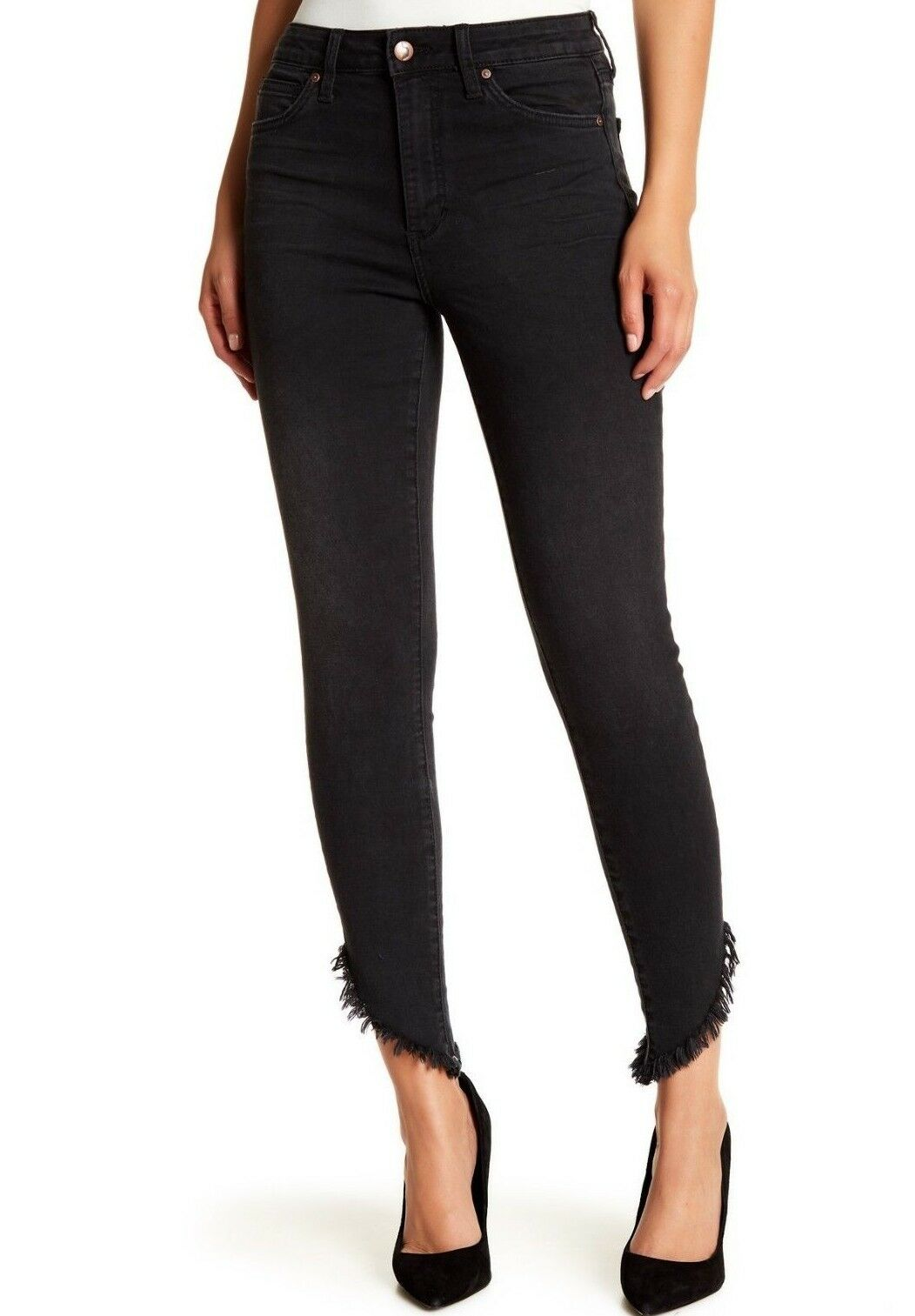 NWT JOE'S Sz29 THE SKINNY ANKLE HI-RISE RAW HEM STRETCH JEANS VERONICA BLAC