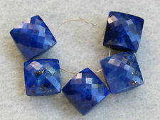 Natural Blue Lapis Lazuli Faceted Cushion Briolette Gemstone Beads