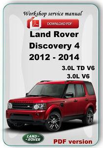 land rover discovery 4 lr4 2012 2013 2014 reparaci n manual de rh ebay com land rover discovery 300tdi owners manual land rover discovery service manual