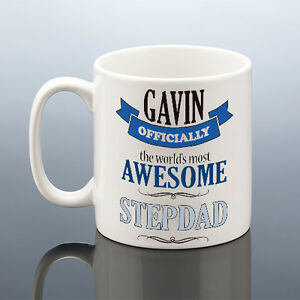 Image Is Loading AWESOME STEPDAD MUG Step Dad Birthday Gift Personalised
