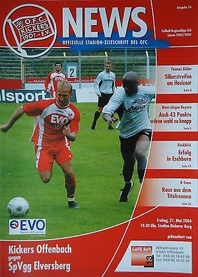Offenbacher Kickers Programm 2006//07 FC Carl Zeiss Jena