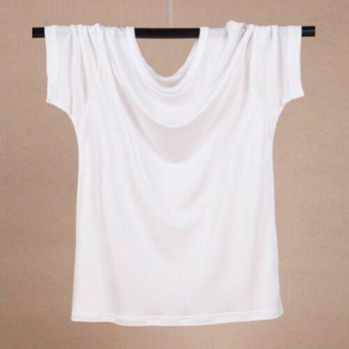 Homme 100/% SOIE à encolure ras-du-cou T shirt à manches courtes Casual Sport Fitness Basic Top c18