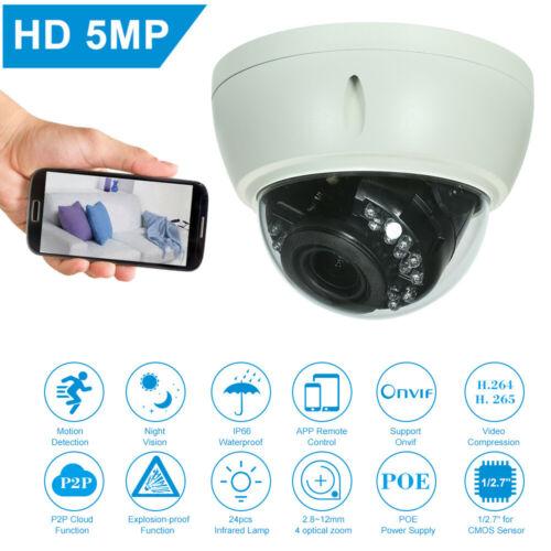 4MP //1080P //1440P //1520P 5MP Camera HD Dome POE IP Night Vision Camera F4A5