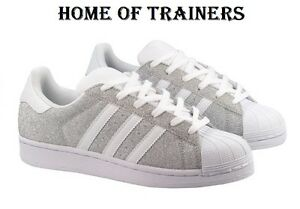 Adidas Original Super Star Glitter Shine Women s Girls Trainers All ... cd256ff0b4