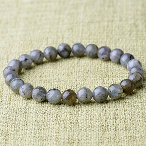 8 mm naturel magnifique LABRADORITE Healing Crystal stretch perles Bracelet Unisexe