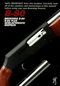 Browning B-80 Semi-Auto Shotgun Owners Manual