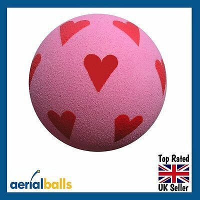 REDUCED...Pink Love Heart Ball with Red Hearts Car Aerial Ball Antenna Topper