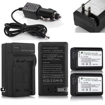 Quality Camera Battery Charger NP-FW50 Sony NEX3 NEX5 NEX7 SLT-A55 RX10 II A5000
