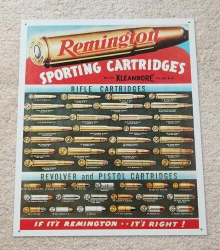 "Remington Rifle Cartridges Metal Signs 16/"" x 12/""  Man Cave Decor Gun parts Dad"