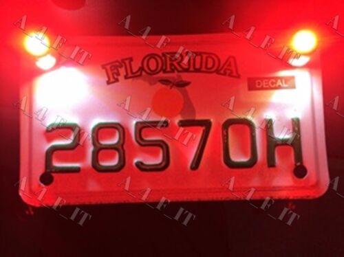 WHITE RED LED TAG LIGHT FENDER ELIMINATOR LED LICENSE PLATE LIGHTS MOTORCYCLE