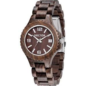 Orologio Donna SECTOR NATURE R3253478012 Legno Bracciale Marrone Wood