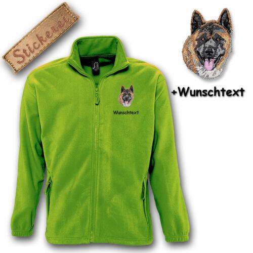 Fleece Individueller Hund Jacke M1 Wunschtext Stickerei Akita Bestickt BqpBAP