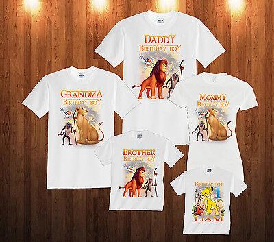 Personalized Custom LION KING Birthday T-Shirt Family Shirts