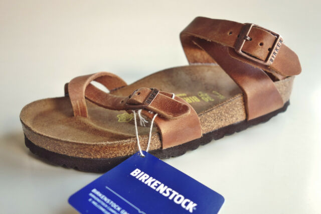 Leather Sandals Yara Brown 36 Birkenstock Antique Rare lKTFc1J3