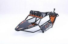 Alloy Roll cage kit/Plastic Orange image window with lamp for Hpi Baja 5T 5SC