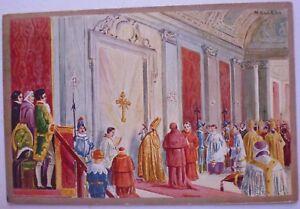 CARTOLINA-PAPA-LEONE-XII-1825-ROMA-NON-VIAGGIATA-9-17