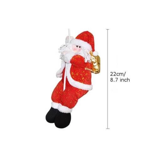 US 2018 New Snowman Christmas Tree Topper Hug Man Xmas Indoor Decoration Gifts