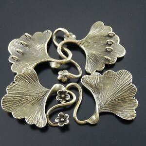 4pcs-Antique-Style-Bronze-Tone-Brass-Fashion-Leaf-Charm-Clasp-Finding-29-26-mm