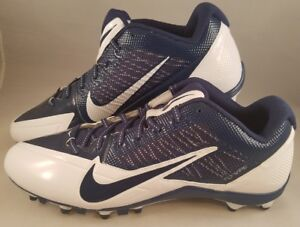 a4c72a861ee6 New Nike Alpha Pro Low TD Football Cleats Men s Size 14 White Navy ...