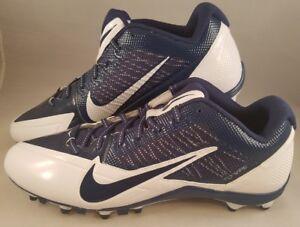 9b7c7d03f87b New Nike Alpha Pro Low TD Football Cleats Men s Size 14 White Navy ...