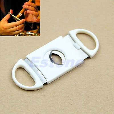 Cigar Cutter Pocket Double Blades Guillotine Knife Scissors Stainless Steel W