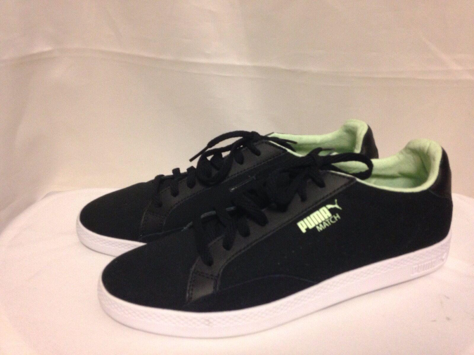 Puma Match Lo Factory Sneaker 9.5 M Black/Mint  New w/ Box best-selling model of the brand