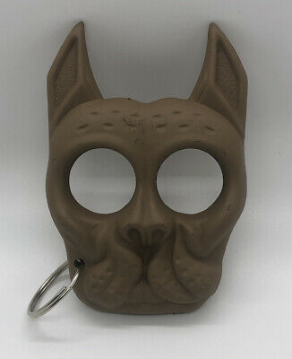 Self Defense Keyring Black Cat Big Dog Shaped Knuckles Tool
