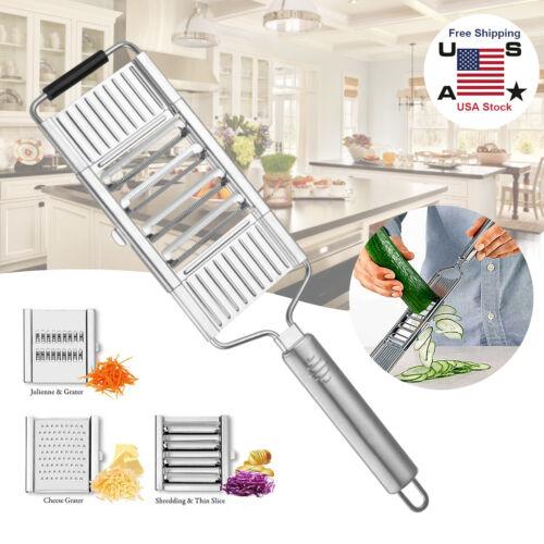 Multi-Purpose Vegetable Slicer Kitchen Tool Stainless Steel Grater Planed Strip