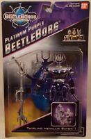 Beetleborgs Metallix - Platinum Purple Beetleborg Twirling Metallix Baton (moc)