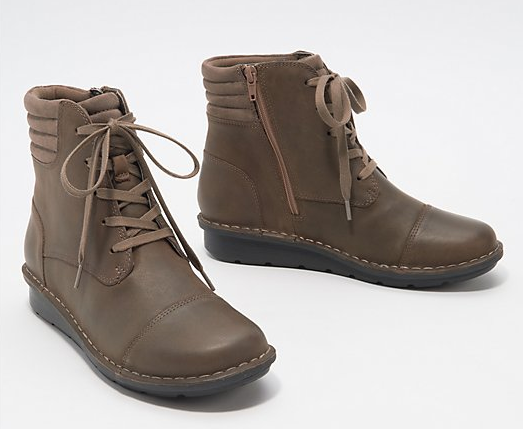 Leather Casual Lace Up Ankle Boots