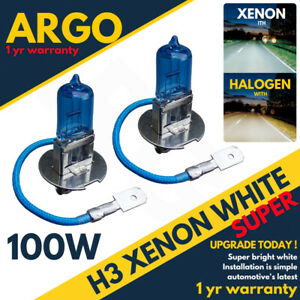 Vauxhall Corsa MK2//C 100w Super White Xenon HID Front Fog Light Bulbs Pair