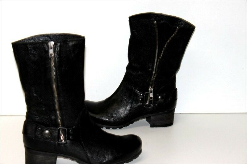 Vic matie boots supple leather black leather lined size 37 ttbe