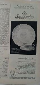 1958-Rosenthal-China-Versailles-Patron-Disenado-de-Raymond-Loewy-Vintage-Anuncio