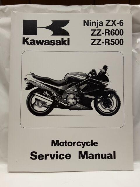 service manual for kawasaki ninja zx 6 zzr 600 zzr 500 ebay rh ebay com ninja 500 manual pdf ninja 500 owner's manual