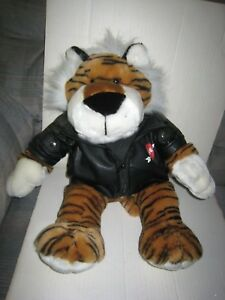 Dan-Dee-18-034-Plush-Biker-Tiger-Valentine-039-s-Day-Faux-Leather-Jacket-with-LOVE