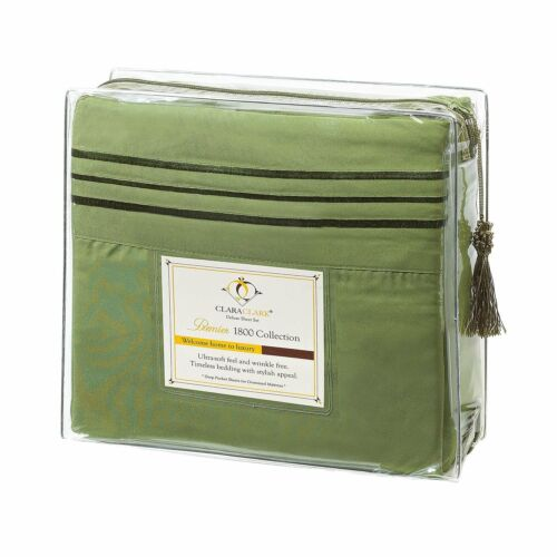 Egyptian Comfort 1800 Count Deluxe 4pc Sheet Set with Deep Pockets NEW