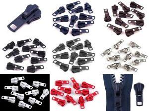 2 Zipper 8mm Ersatzzipper Reißverschluss autolock ver. Farben (0,50€/St.)