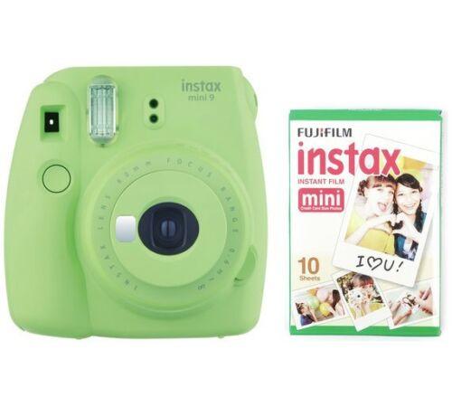 Cámara instantánea Fujifilm Instax Mini 9-Verde Lima//con 10 disparos de película