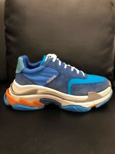 Details about NIB Balenciaga Triple S Sneaker V2 Blue Nylon Speed Flat Trainers 45 Mens US 12