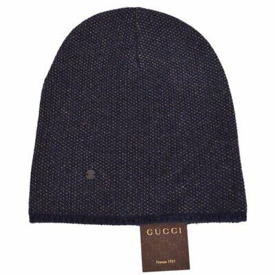 0c91a929d NWT NEW Gucci men women burgundy or blue wool cashmere beanie hat L 352350  | eBay