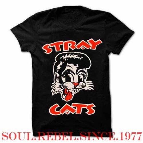 STRAY CATS PUNK ROCK ALTERNATIVE  MEN/'S SIZES T SHIRT MEN/'S SIZES