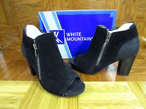 white mountain open toe booties