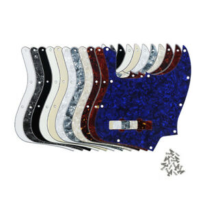 J-Bass-Pickguard-Scratch-Plate-10-Holes-For-Standard-4-Strings-Jazz-JB-Bass